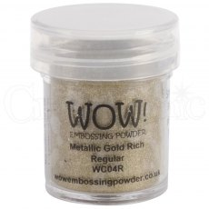 Wow Embossing Powder 15 ml Metallic Gold Rich - Regular
