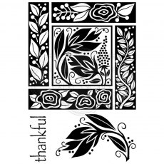 Woodware Clear Stamps - Floral Block