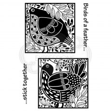 Woodware Clear Stamps - Bird Blocks