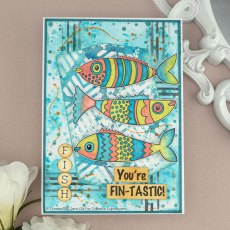 Woodware Clear Stamps - Swimming Fish