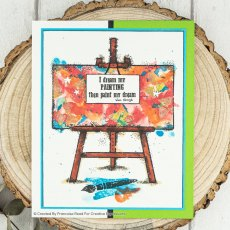 Woodware Clear Stamps - Art Easel