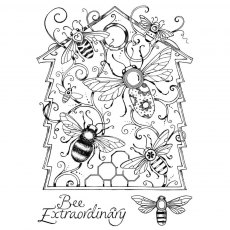 Pink Ink Designs - Die & Stamp - A Cut Above - Beehive Buzz