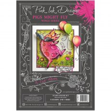 Pink Ink Designs - Die & Stamp - A Cut Above - Pigs Might Fly