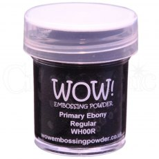 Wow Embossing Powder 15 ml Primary Ebony - Regular