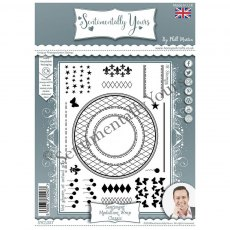 Phill Martin - Sentimentally Yours Stamps - Sentiment Medallion Wrap - Classic
