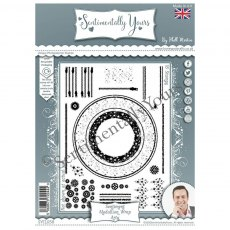 Phill Martin - Sentimentally Yours Stamps - Sentiment Medallion Wrap - Arty