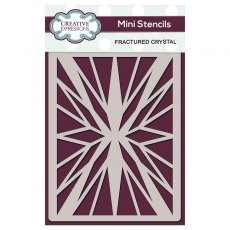 Creative Expressions Mini Stencil - Fractured Crystal