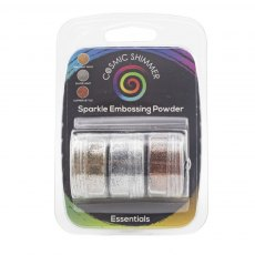 Cosmic Shimmer Sparkle Embossing Powder - Trio - Essentials