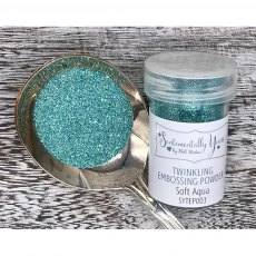 Phill Martin - Sentimentally Yours - Twinkling Embossing Powder - Soft Aqua