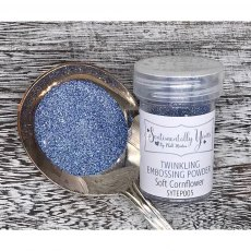 Phill Martin - Sentimentally Yours - Twinkling Embossing Powder - Soft Cornflower