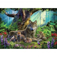 Ravensburger 1000 Piece Puzzle - Wolves in the Forest
