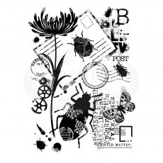 Woodware Clear Stamps - Beetle Collage