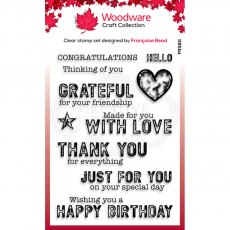 Woodware Clear Stamps - Made for You