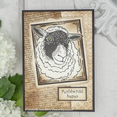Woodware Clear Stamps - Lino Cut - Sheep