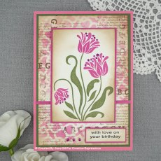 Woodware Clear Stamps - Tulip Set