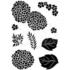 Woodware Clear Stamps - Hydrangea Set