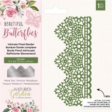 Nature's Garden - Beautiful Butterflies Collection - Metal Die - Intricate Floral Border