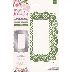 Nature's Garden - Beautiful Butterflies Collection - Metal Die - Intricate Lace Frame
