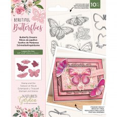 Nature's Garden - Beautiful Butterflies Collection - Stamp & Die - Butterfly Dreams