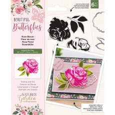 Nature's Garden - Beautiful Butterflies Collection - Stamp & Die - Rose Bloom