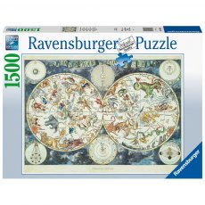 Ravensburger 1500 Piece Puzzle - World Map of Fantastic Beasts