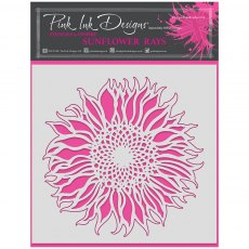 Pink Ink Designs - 8 x 8 inch Stencil - Sunflower Rays