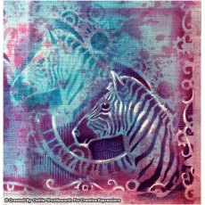 Pink Ink Designs - 8 x 8 inch Stencil - Zebra Stripes