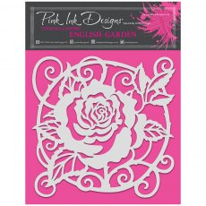 Pink Ink Designs - 8 x 8 inch Stencil - English Garden
