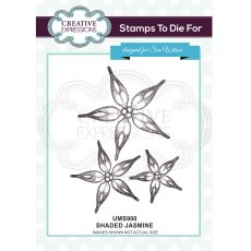 Stamps To Die For  Rubber Stamp Range - Shaded Jasmine