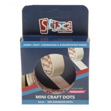 Double Sided Mini Craft Dots 6mm (300 pack)