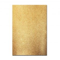Glitter Card A4 Card Pack - Gold (5 Sheets)