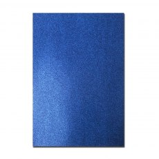 Glitter Card A4 Card Pack - Royal Blue (5 Sheets)