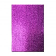 Glitter Card A4 Card Pack - Purple (5 Sheets)