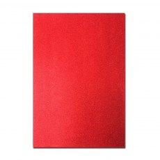 Glitter Card A4 Card Pack - Christmas Red (5 Sheets)