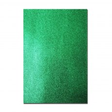 Glitter Card A4 Card Pack - Christmas Green (5 Sheets)