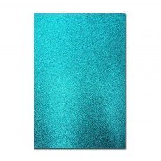 Glitter Card A4 Card Pack - Teal (5 Sheets)