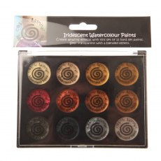 Cosmic Shimmer Iridescent Watercolour Paint Set 1 - Metallics