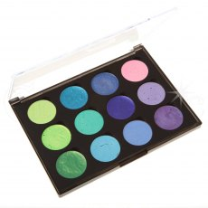 Cosmic Shimmer Iridescent Watercolour Paint Set 5 - Greens & Purples