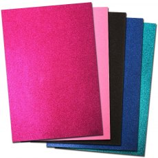 Glitter Card A4 Card Pack - Glam Collection (5 Sheets)