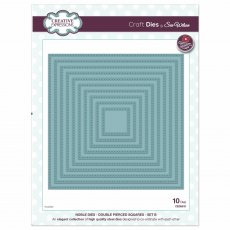 Sue Wilson Craft Dies - Noble Collection - Double Pierced Squares Set B