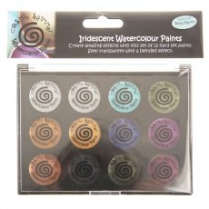 Cosmic Shimmer Iridescent Watercolour Paint Set 10 - Decadent and Precious Metals