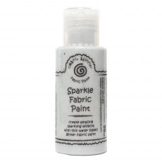 Cosmic Shimmer Sparkle Fabric Paint - Silver Shine