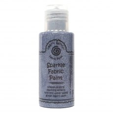 Cosmic Shimmer Sparkle Fabric Paint - Victorian Silver