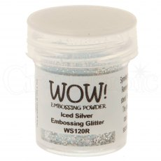 Wow Embossing Powder 15 ml Iced Silver - Regular