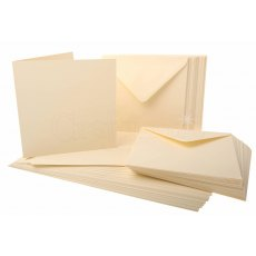 6 x 6 inch Ivory Cards and Envelopes - 50 pack