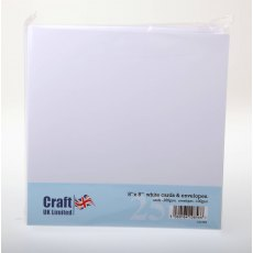 8 x 8 inch White Cards and Envelopes - 25 pack