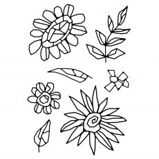 Woodware Clear Stamps - Mosaic Flowers