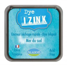 Izink Dye Ink Pad - South Sea  (Mer Du Sud) 5 x 5 cm