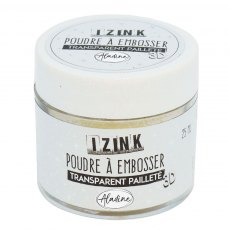 Izink Embossing Powder - Iridescent Sparkle (Transparent Paillete)