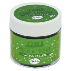 Izink Embossing Powder - Cactus Paillete